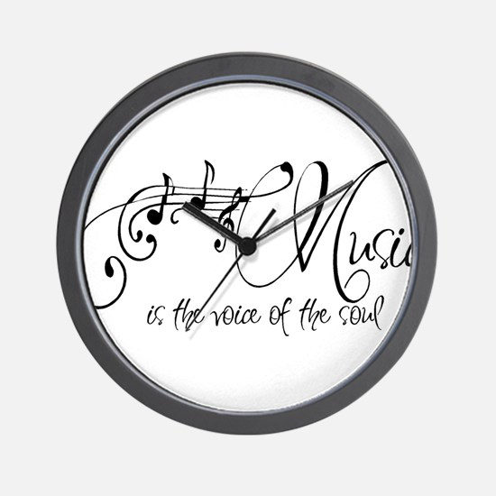 Music is the voice of the soul Wall Clock
