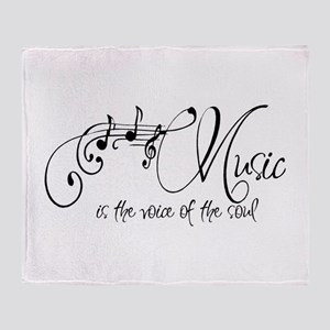 Music is the voice of the soul Throw Blanket