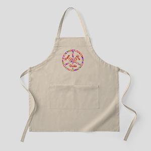 Peace Love Books Apron