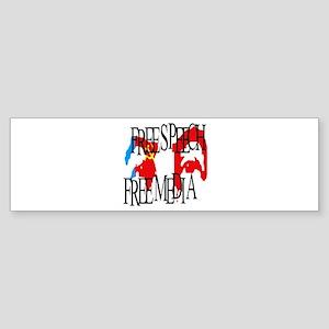 RUSSIA FREE SPEECH FREE MEDIA Bumper Sticker