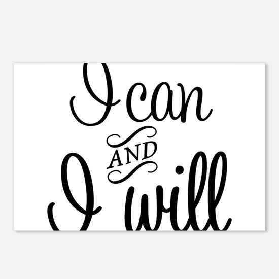 I can and I will Postcards (Package of 8)