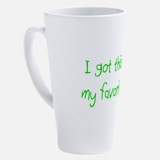 Funny I am thankful for my family 17 oz Latte Mug