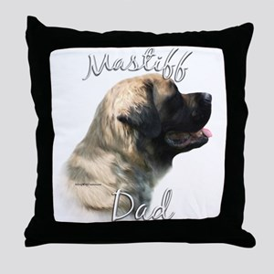 Mastiff(fluff)Dad2 Throw Pillow
