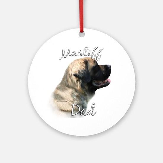 Mastiff(fluff)Dad2 Ornament (Round)