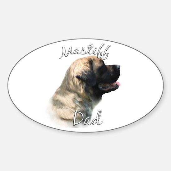 Mastiff(fluff)Dad2 Oval Decal
