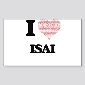 I Love Isai (Heart Made from Love words) Sticker