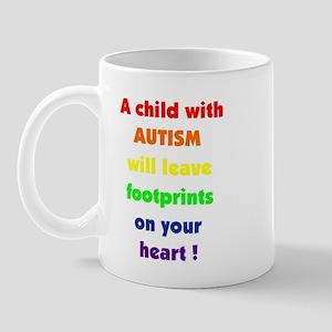Footprints text Mug