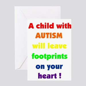 Footprints text Greeting Card
