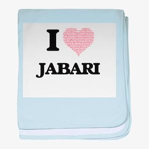 I Love Jabari (Heart Made from Love w baby blanket