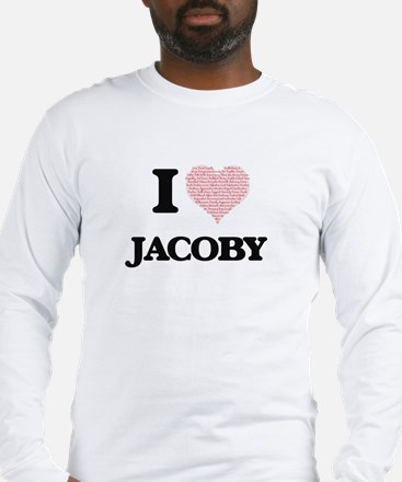 I Love Jacoby (Heart Made from Long Sleeve T-Shirt