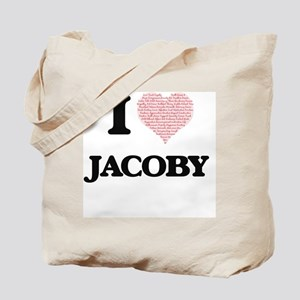 I Love Jacoby (Heart Made from Love words Tote Bag