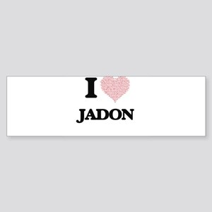 I Love Jadon (Heart Made from Love Bumper Sticker