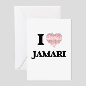 I Love Jamari (Heart Made from Love Greeting Cards