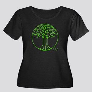 treesong-transparent-green-1000x1000 Plus Size T-S