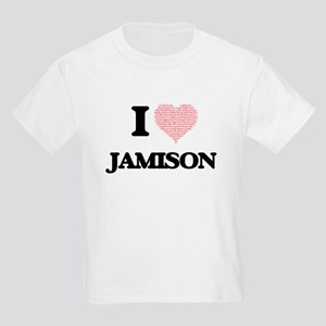 I Love Jamison (Heart Made from Love words T-Shirt
