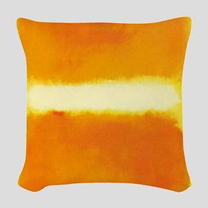 ROTHKO ORANGE AND WHITE LIGHT Woven Throw Pillow