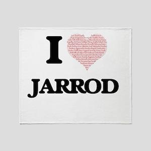 I Love Jarrod (Heart Made from Love Throw Blanket
