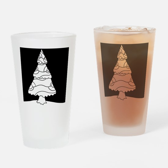 Trees at Night Series Drinking Glass