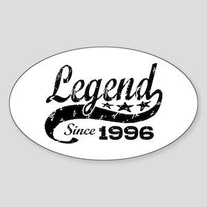 Legend Since 1996 Sticker (Oval)