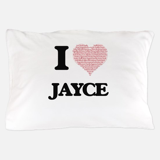 I Love Jayce (Heart Made from Love wor Pillow Case