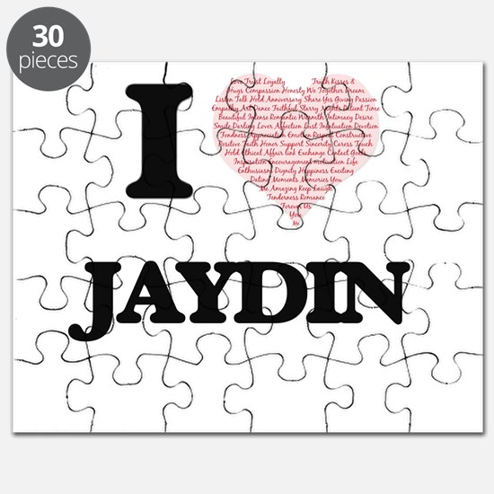 I Love Jaydin (Heart Made from Love words) Puzzle