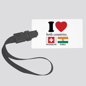 SWITZERLAND-INDIA Large Luggage Tag