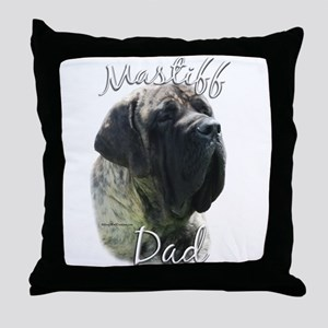 Mastiff(brindle)Dad2 Throw Pillow