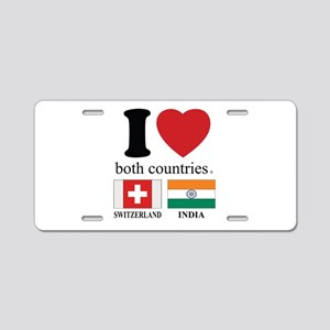 SWITZERLAND-INDIA Aluminum License Plate