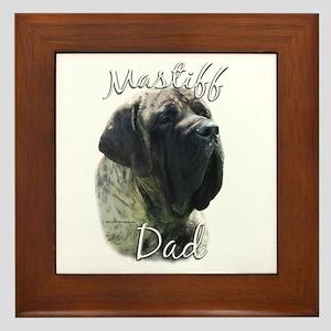 Mastiff(brindle)Dad2 Framed Tile