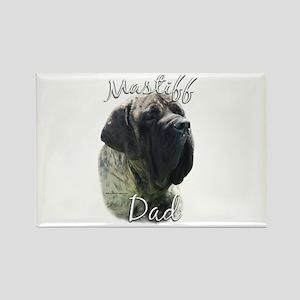 Mastiff(brindle)Dad2 Rectangle Magnet