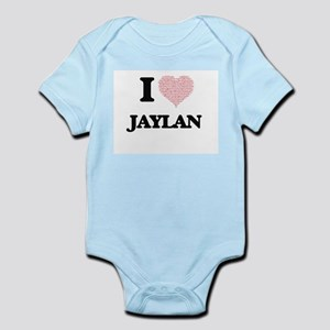 I Love Jaylan (Heart Made from Love word Body Suit