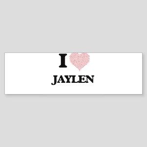 I Love Jaylen (Heart Made from Love Bumper Sticker