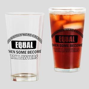 Tax Lawyers Design Drinking Glass
