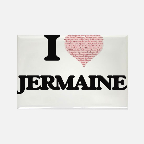 I Love Jermaine (Heart Made from Love word Magnets