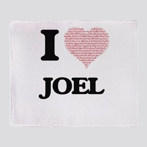 I Love Joel (Heart Made from Love wo Throw Blanket