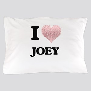 I Love Joey (Heart Made from Love word Pillow Case