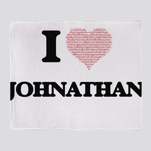 I Love Johnathan (Heart Made from Lo Throw Blanket