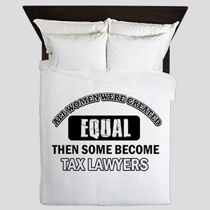 Tax Lawyers Design Queen Duvet