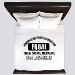 Tax Lawyers Design King Duvet