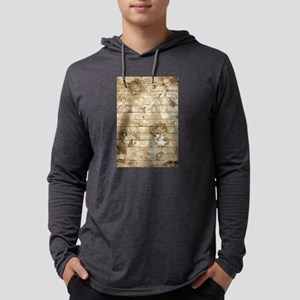 Rustic Vintage Country Floral Long Sleeve T-Shirt