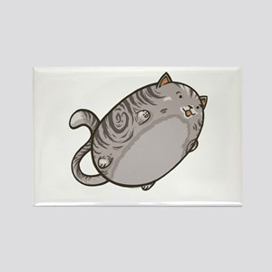 Flying Cat - Gray Tabby Rectangle Magnet