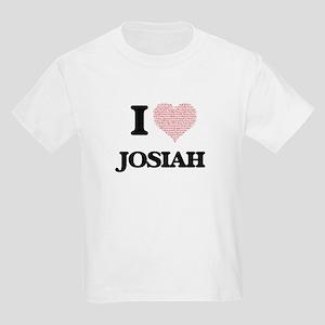 I Love Josiah (Heart Made from Love words) T-Shirt