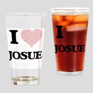 I Love Josue (Heart Made from Love Drinking Glass