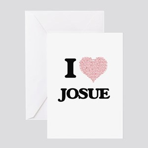 I Love Josue (Heart Made from Love Greeting Cards