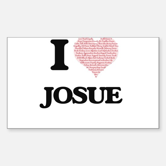 I Love Josue (Heart Made from Love words) Decal