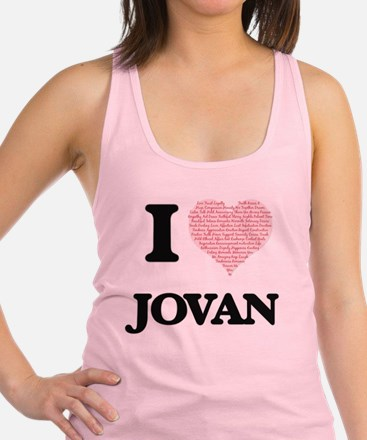 I Love Jovan (Heart Made from L Racerback Tank Top