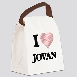 I Love Jovan (Heart Made from Lov Canvas Lunch Bag