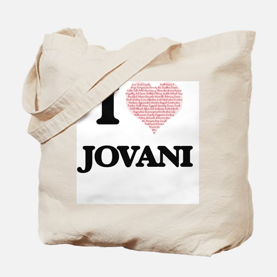 I Love Jovani (Heart Made from Love words Tote Bag