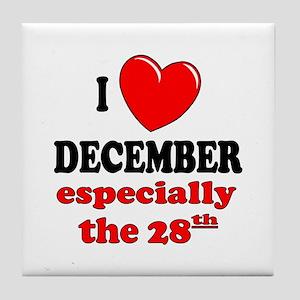 December 28th Tile Coaster