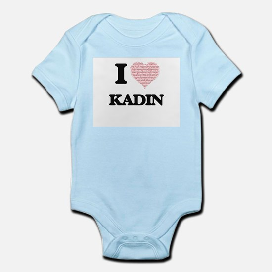 I Love Kadin (Heart Made from Love words Body Suit